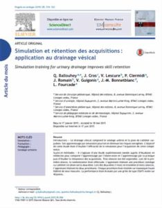 Simulation et rétention des acquisitions : application au drainage vésical